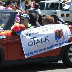 QTalk Arizona 2012 Phoenix Pride Parade Entry and Studio-On-Wheels